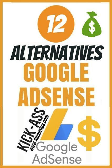 12 Best Alternatives To Googl*e Adsense You Should Consider if you got rejected from google adsense