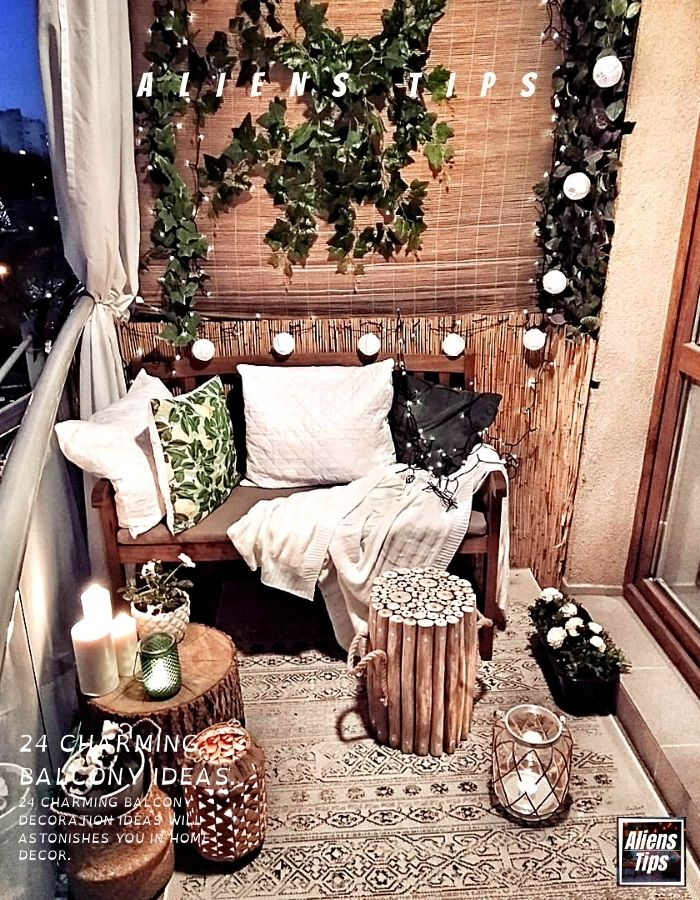 24 Charming Balcony decoration ideas Will Astonishes you in-home Interior-AliensTips-Home decor-balcony decor ideas-Wall decor-balcony ideas-small apartment balcony-furniture for balconies-outdoor furniture-balcony planting-Small balcony ideas or small balcony decorating ideas-decking furniture ideas-balcony railings, balustrade, glass balcony railings