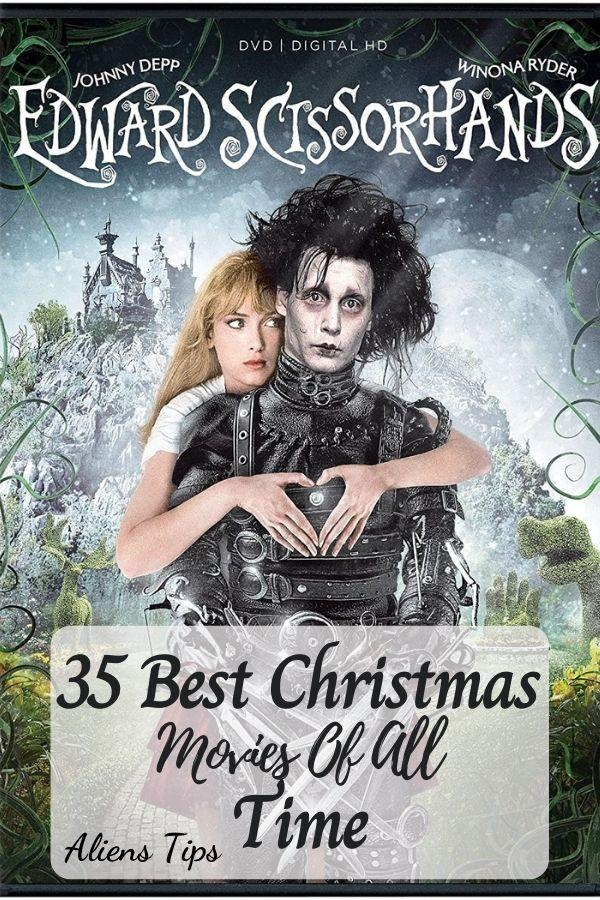 Edward Scissorhands (1990) 35 Best Christmas Movies Of All Time, New Christmas Movies-Aliens Tips