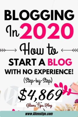 How To Start A Blog And Make MONEY Over $5,000mo Blogging! how to start a blog and make money Aliens Tips