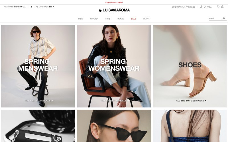 LUISAVIAROMA What Are The Best FASHION Websites For Women? [50+RANKED] Aliens tips blog