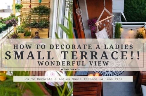 How To Decorate a ladies SMALL Terrace!! Wonderful View