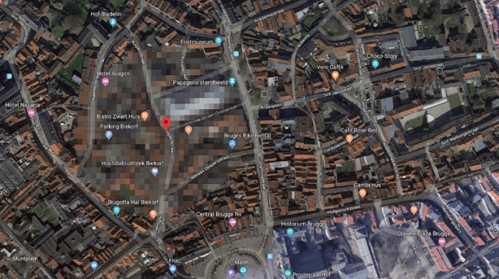 9 places that never appear on Google Maps (photos) aliens tips 7. Bruges, Belgium alienstips.com