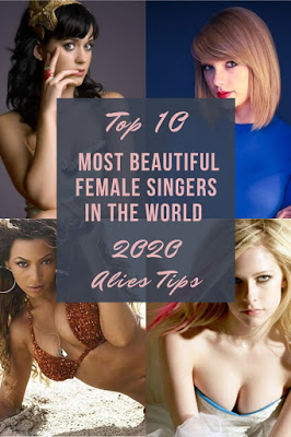 10 Most Beautiful Female Singers in the world 2020 Aliens Tips-Blog 1. Taylor Swift 2. Selena Gomez 3. Katy Perry 4. Avril Lavigne 5. Demi Lovato 6. Shakira 7. Ariana Grande 8. Jackie Evancho 9. Beyonce 10. Carrie Underwood